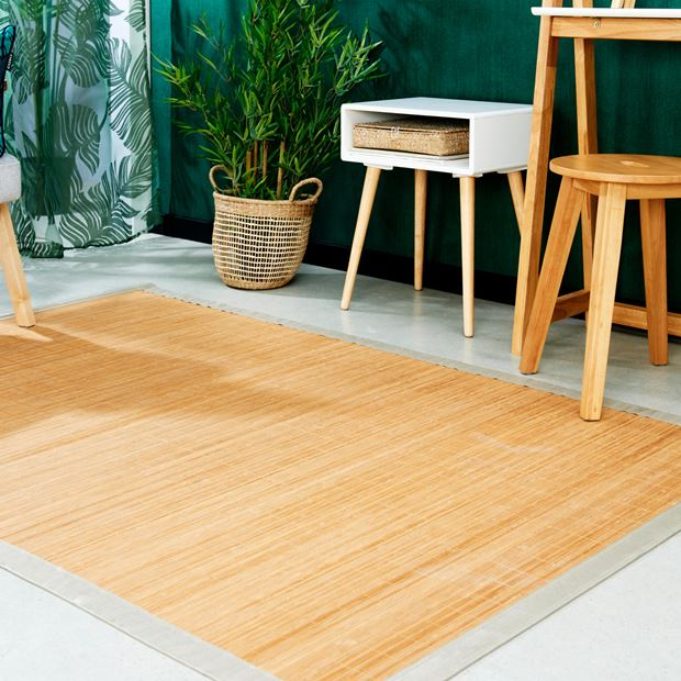BAMBOO Alfombra 2 colores negro, taupe An. 150 x L 200 cm_bamboo-alfombra-2-colores-negro,-taupe-an--150-x-l-200-cm