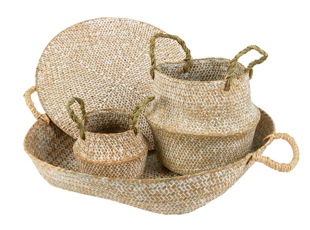 SEAGRASS Mini panier pliable naturel H 20 cm; Ø 20 cm_seagrass-mini-panier-pliable-naturel-h-20-cm;-ø-20-cm