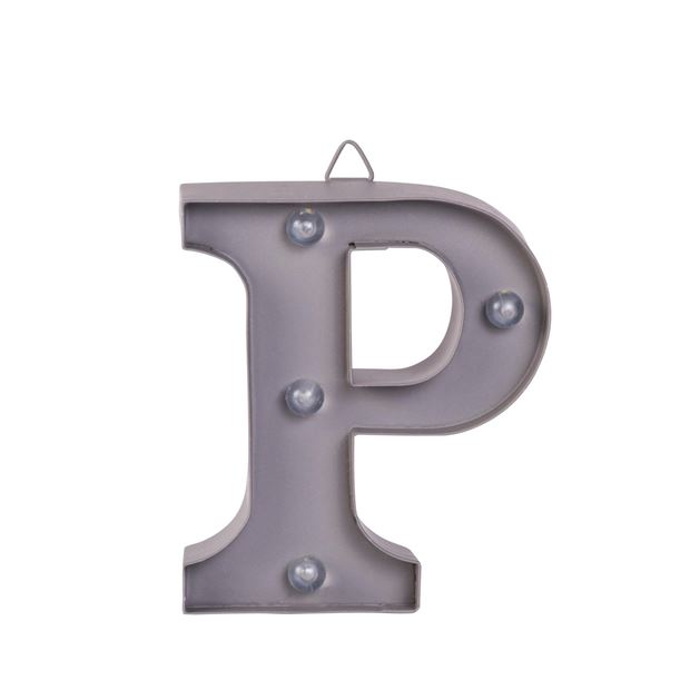 LED Letter P metaal H 10 cm_led-letter-p-metaal-h-10-cm