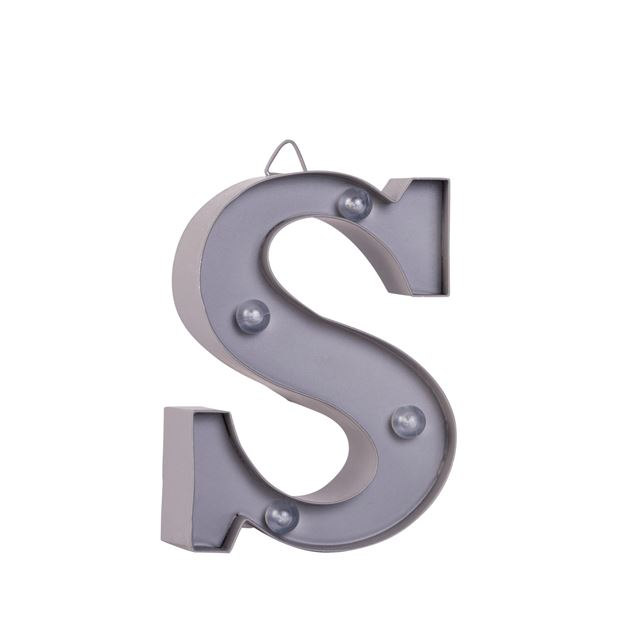 LED Letter S metaal H 10 cm_led-letter-s-metaal-h-10-cm