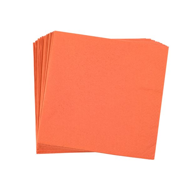 UNI Set de 20 serviettes orange Larg. 40 x Long. 40 cm_uni-set-de-20-serviettes-orange-larg--40-x-long--40-cm