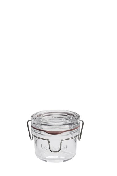 LOCK-EAT Glasbehälter Transparent H 7,6 cm; Ø 8,4 cm_lock-eat-glasbehälter-transparent-h-7,6-cm;-ø-8,4-cm