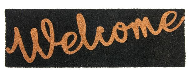 WELCOME  Paillasson noir Larg. 25 x Long. 75 cm_welcome--paillasson-noir-larg--25-x-long--75-cm