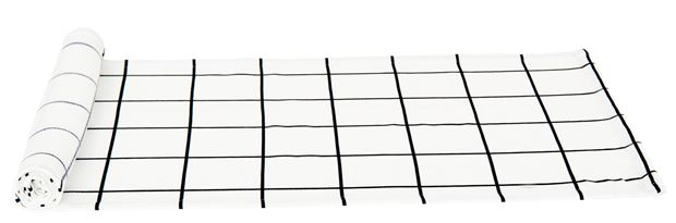 CHECKERS Chemin de table noir, blanc Larg. 40 x Long. 140 cm_checkers-chemin-de-table-noir,-blanc-larg--40-x-long--140-cm