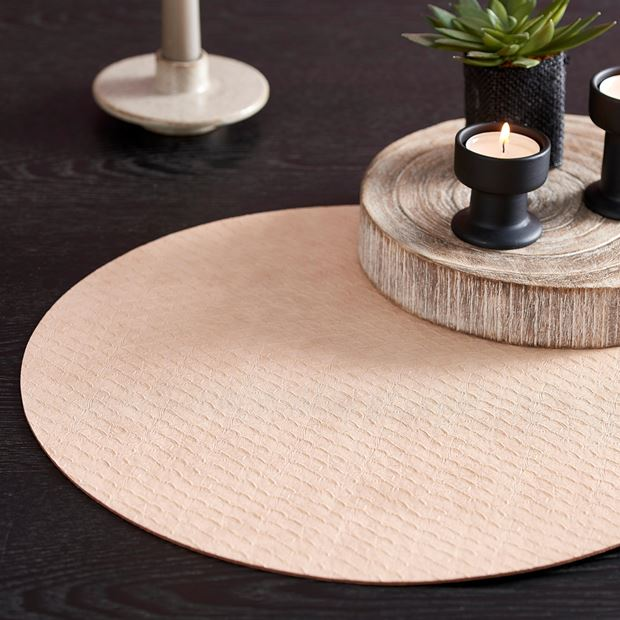 SNAKE SKIN Set de table beige Ø 38 cm_snake-skin-set-de-table-beige-ø-38-cm