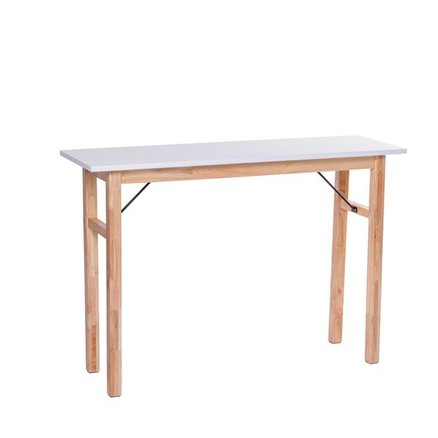 BIANCA Table murale blanc, naturel H 75 x Larg. 35 x Long. 110 cm_bianca-table-murale-blanc,-naturel-h-75-x-larg--35-x-long--110-cm