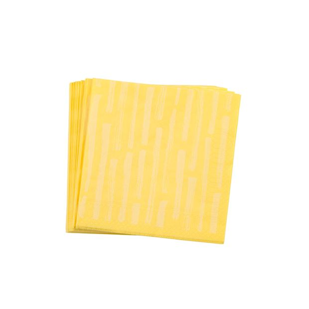 STRIPE Set de 20 serviettes jaune clair Larg. 33 x Long. 33 cm_stripe-set-de-20-serviettes-jaune-clair-larg--33-x-long--33-cm
