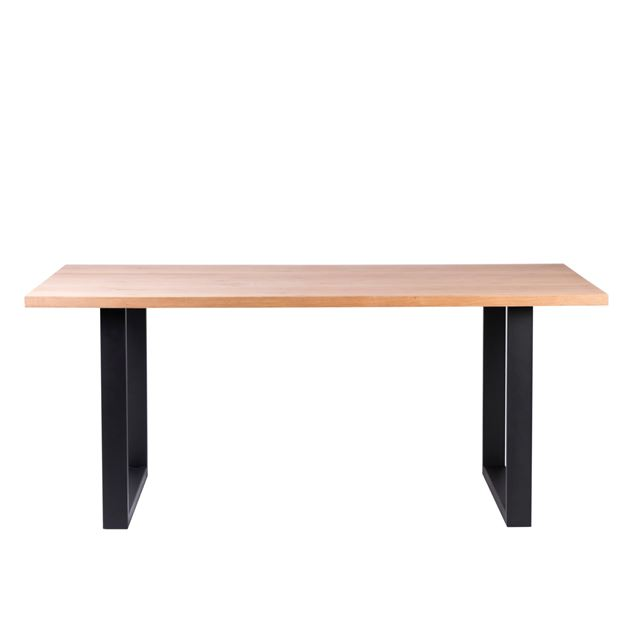 MELVIN Table noir, naturel H 75 x Larg. 90 x Long. 180 cm_melvin-table-noir,-naturel-h-75-x-larg--90-x-long--180-cm