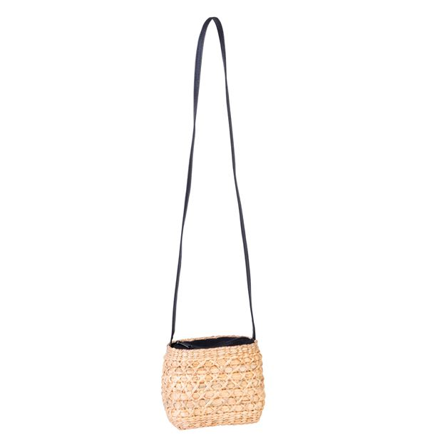 TRENDY Sac à main noir, naturel H 13 x Larg. 17 x P 11 cm_trendy-sac-à-main-noir,-naturel-h-13-x-larg--17-x-p-11-cm