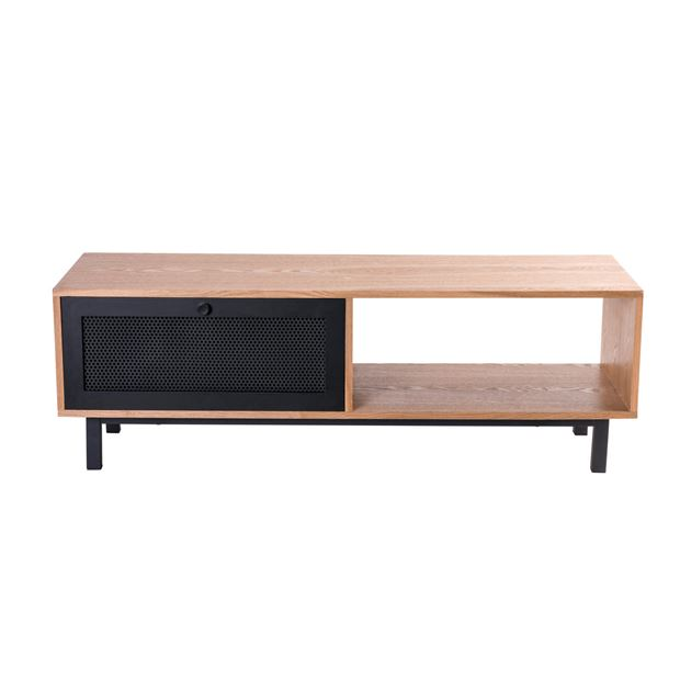 FRESNO Meuble TV naturel H 40 x Larg. 120 x P 40 cm_fresno-meuble-tv-naturel-h-40-x-larg--120-x-p-40-cm