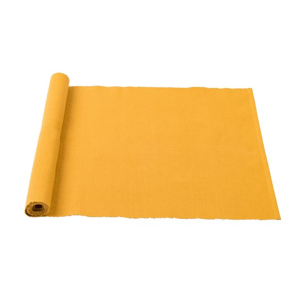 MINI RIB Chemin de table jaune Larg. 48 x Long. 140 cm_mini-rib-chemin-de-table-jaune-larg--48-x-long--140-cm