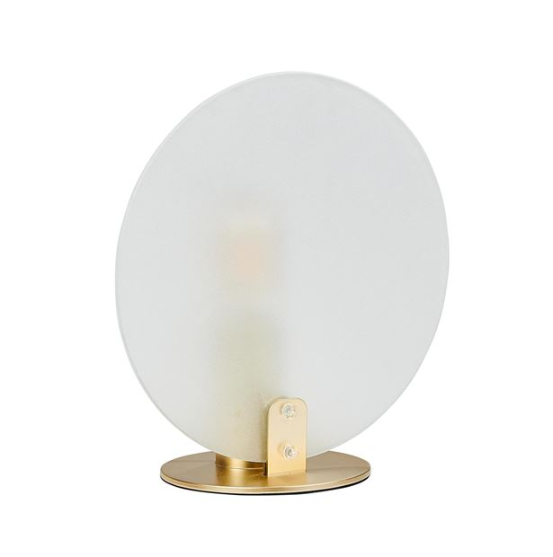 FROSTI Lampe de table transparent H 26,5 x Larg. 26 x P 14 cm_frosti-lampe-de-table-transparent-h-26,5-x-larg--26-x-p-14-cm