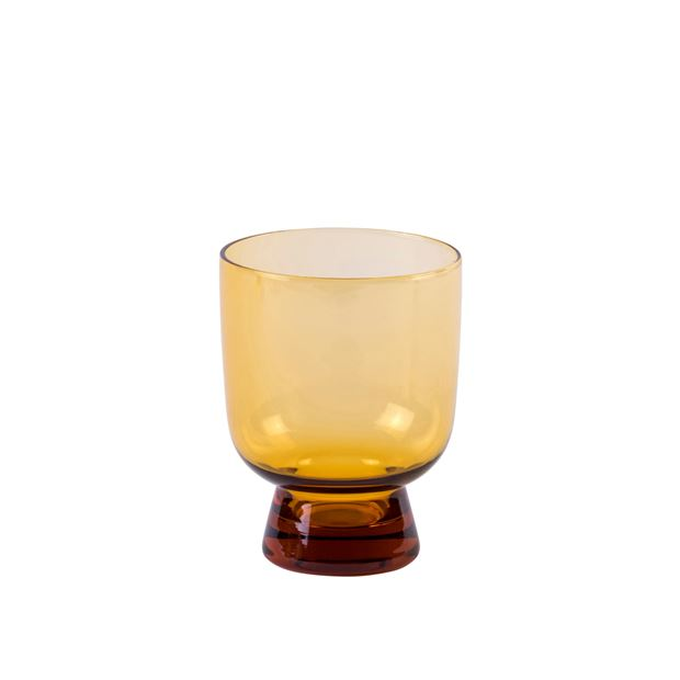 FINESSE AMBER  Verre orange H 10,5 cm; Ø 9 cm_finesse-amber--verre-orange-h-10,5-cm;-ø-9-cm