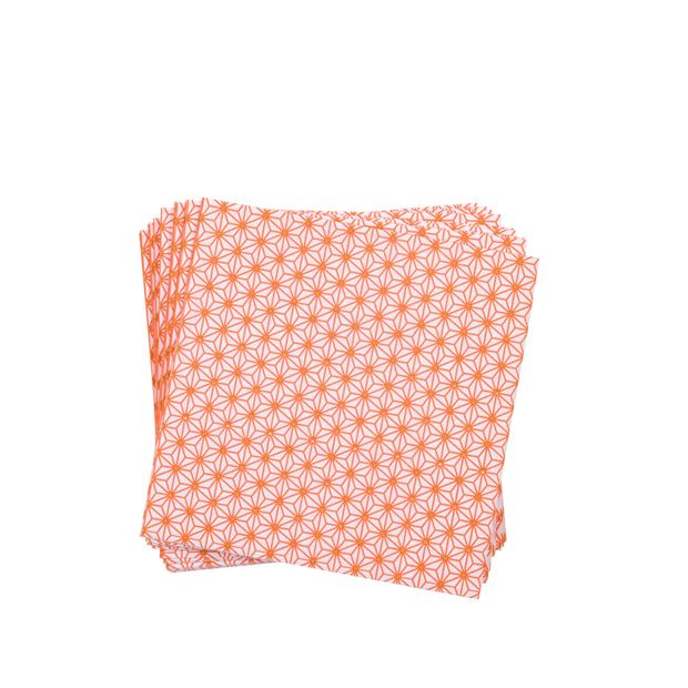 GINZA ORANGE Set de 20 serviettes orange Larg. 33 x Long. 33 cm_ginza-orange-set-de-20-serviettes-orange-larg--33-x-long--33-cm