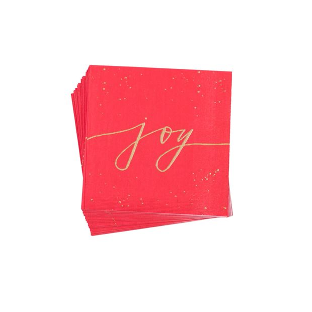 JOY RED Set de 20 serviettes rouge, doré Larg. 33 x Long. 33 cm_joy-red-set-de-20-serviettes-rouge,-doré-larg--33-x-long--33-cm