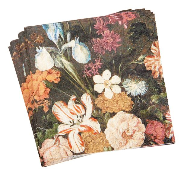 BOUQUET Set de 20 serviettes multicolore Larg. 33 x Long. 33 cm_bouquet-set-de-20-serviettes-multicolore-larg--33-x-long--33-cm