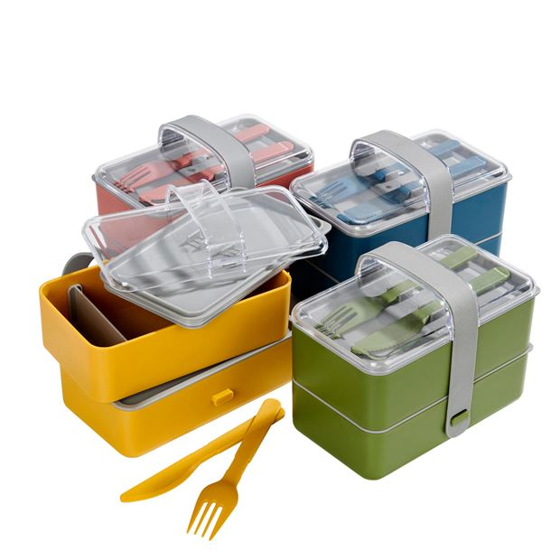 LUNCHTIME Lancheira com talheres 3 cores amarelo, verde, azul H 13,5 x W 17 x D 10 cm_lunchtime-lancheira-com-talheres-3-cores-amarelo,-verde,-azul-h-13,5-x-w-17-x-d-10-cm
