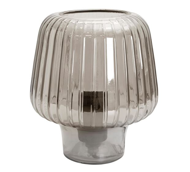 EVIE Lampe de table gris smoke H 21 cm; Ø 18 cm_evie-lampe-de-table-gris-smoke-h-21-cm;-ø-18-cm