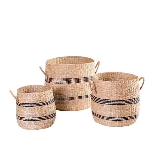 BILLY RAY Panier noir, naturel H 28 cm; Ø 30 cm_billy-ray-panier-noir,-naturel-h-28-cm;-ø-30-cm