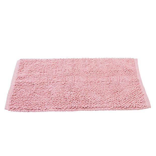 KAIA Tapis de bain rose clair Larg. 50 x Long. 80 cm_kaia-tapis-de-bain-rose-clair-larg--50-x-long--80-cm