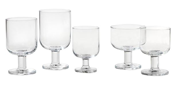 HOSTERIA Coupes set van 6 transparant H 10 cm; Ø 8,6 cm_hosteria-coupes-set-van-6-transparant-h-10-cm;-ø-8,6-cm