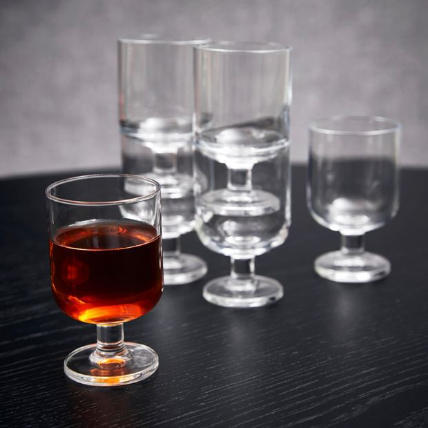 HOSTERIA Verres set de 6 transparent H 10,3 cm; Ø 6,3 cm_hosteria-verres-set-de-6-transparent-h-10,3-cm;-ø-6,3-cm