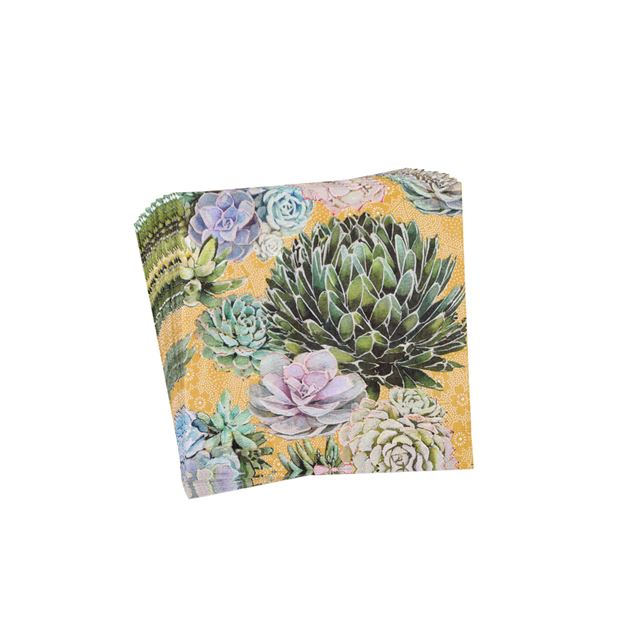SUCCULENTS Set van 20 servetten multicolor B 33 x L 33 cm_succulents-set-van-20-servetten-multicolor-b-33-x-l-33-cm