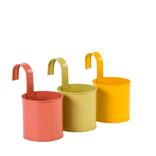 COLOR Pot à suspendre 3 couleurs rouge, jaune, vert H 19 cm; Ø 11 cm_color-pot-à-suspendre-3-couleurs-rouge,-jaune,-vert-h-19-cm;-ø-11-cm
