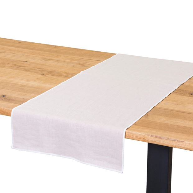 LINITY Chemin de table beige Larg. 45 x Long. 150 cm_linity-chemin-de-table-beige-larg--45-x-long--150-cm