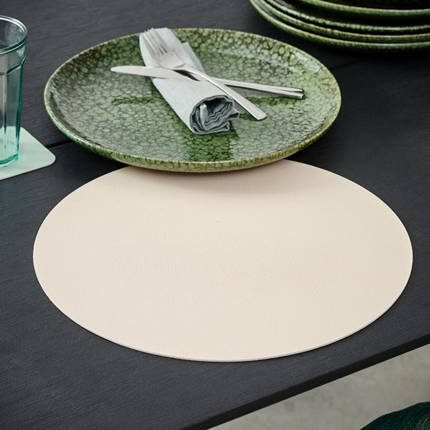 NAPPA Set de table blanc, menthe Ø 38 cm_nappa-set-de-table-blanc,-menthe-ø-38-cm