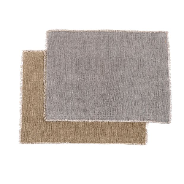 TUCKER Mantel individual 2 colores beis, gris claro An. 33 x L 48 cm_tucker-mantel-individual-2-colores-beis,-gris-claro-an--33-x-l-48-cm