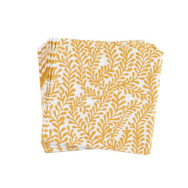 FLORA GOLD Set de 20 serviettes doré Larg. 33 x Long. 33 cm_flora-gold-set-de-20-serviettes-doré-larg--33-x-long--33-cm