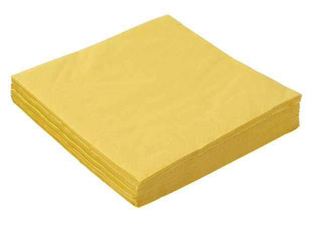 UNI Set de 20 serviettes ocre Larg. 40 x Long. 40 cm_uni-set-de-20-serviettes-ocre-larg--40-x-long--40-cm