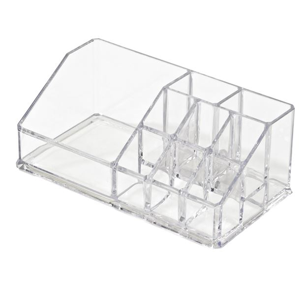 COSMETIC Organisateur pour maquillage transparent H 9 x Larg. 17,5 x P 6,5 cm_cosmetic-organisateur-pour-maquillage-transparent-h-9-x-larg--17,5-x-p-6,5-cm