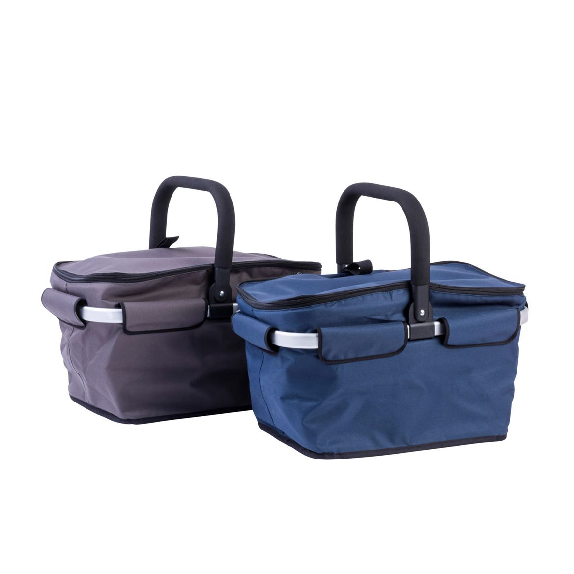 INFINITY Panier shopping isotherme 2 couleurs gris, bleu H 24 x Larg. 48 x P 28 cm_infinity-panier-shopping-isotherme-2-couleurs-gris,-bleu-h-24-x-larg--48-x-p-28-cm
