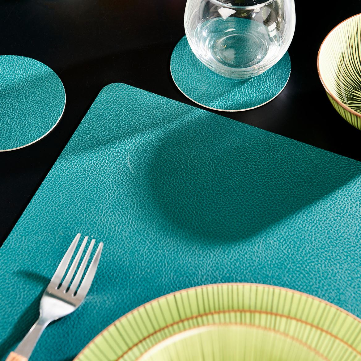 NAPPA Set de table gris, vert Larg. 33 x Long. 46 cm_nappa-set-de-table-gris,-vert-larg--33-x-long--46-cm