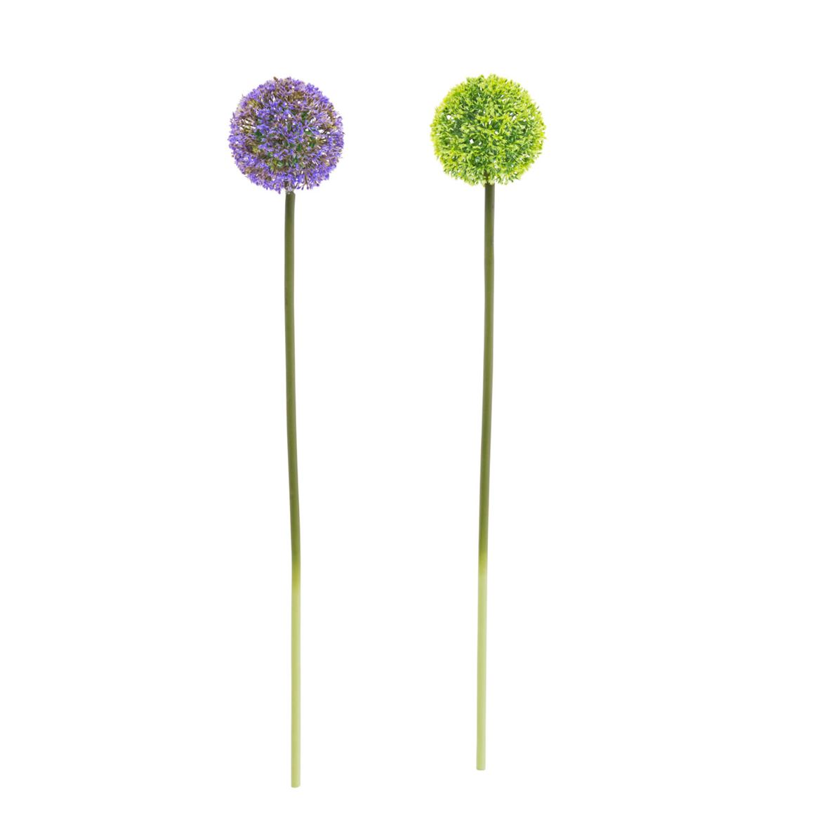 ALLIUM Plante artificielle 2 couleurs vert, mauve Long. 55 cm_allium-plante-artificielle-2-couleurs-vert,-mauve-long--55-cm