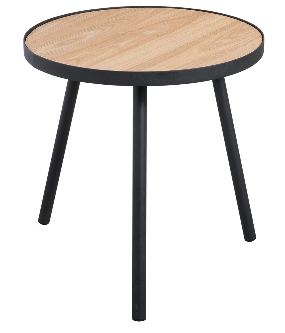 ALEXIS Table d'appoint noir, naturel H 51 cm; Ø 50 cm_alexis-table-d'appoint-noir,-naturel-h-51-cm;-ø-50-cm