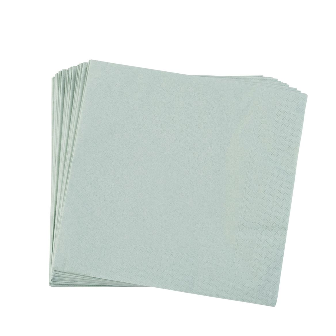 UNI Set de 20 serviettes vert clair Larg. 40 x Long. 40 cm_uni-set-de-20-serviettes-vert-clair-larg--40-x-long--40-cm