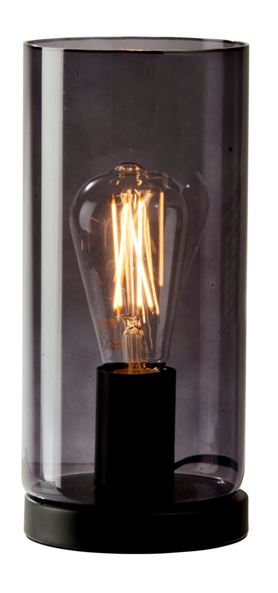 SMOKE Lampe de table transparent H 26,5 cm; Ø 12 cm_smoke-lampe-de-table-transparent-h-26,5-cm;-ø-12-cm