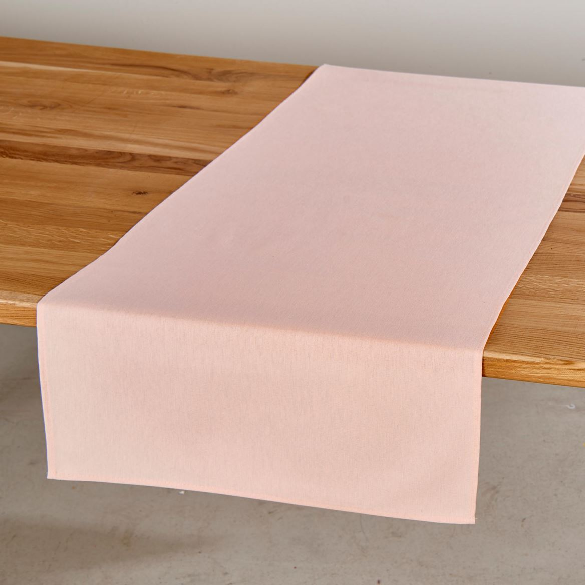 UNILINE Chemin de table rose clair Larg. 45 x Long. 138 cm_uniline-chemin-de-table-rose-clair-larg--45-x-long--138-cm