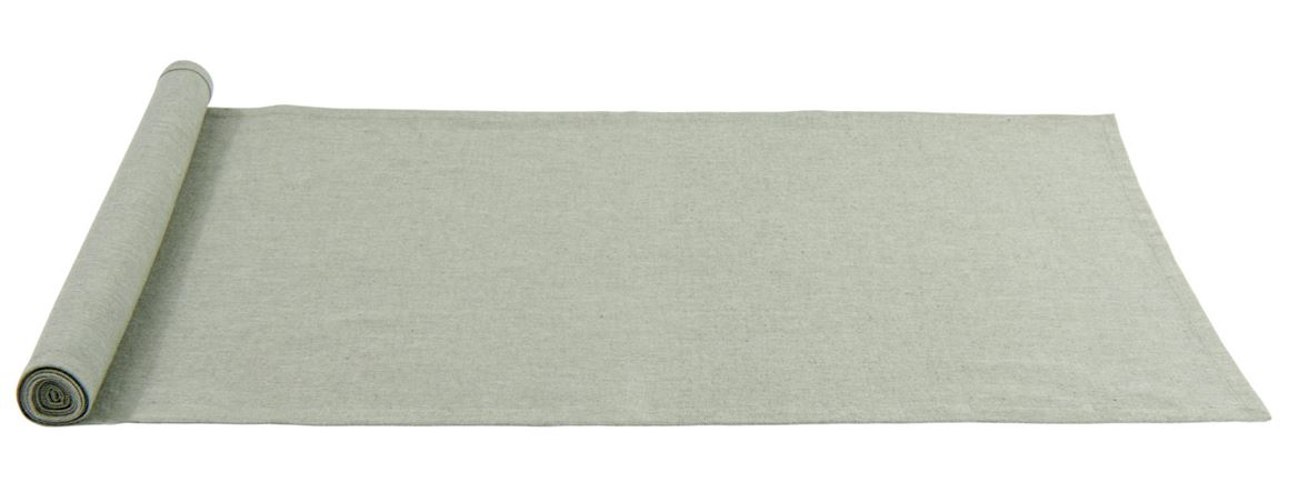 ORGANIC Chemin de table gris clair Larg. 40 x Long. 140 cm_organic-chemin-de-table-gris-clair-larg--40-x-long--140-cm
