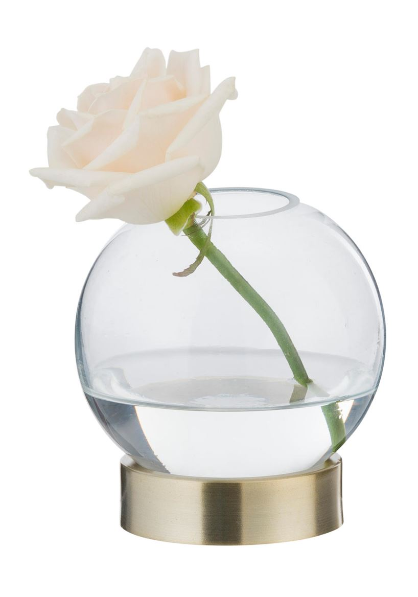 LIVING Vase transparent H 12 cm; Ø 10 cm_living-vase-transparent-h-12-cm;-ø-10-cm