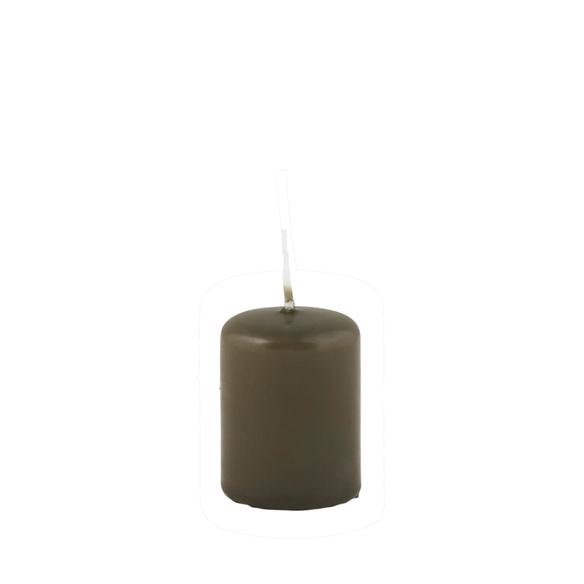 CILINDRO Bougie cylindrique vert H 5 cm; Ø 4 cm_cilindro-bougie-cylindrique-vert-h-5-cm;-ø-4-cm