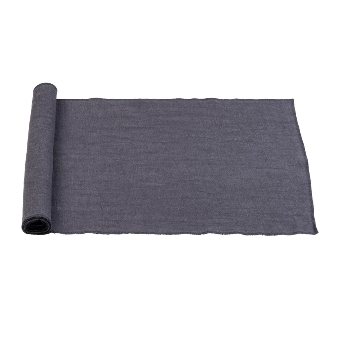 LUXALIN  Chemin de table gris foncé Larg. 42 x Long. 150 cm_luxalin--chemin-de-table-gris-foncé-larg--42-x-long--150-cm