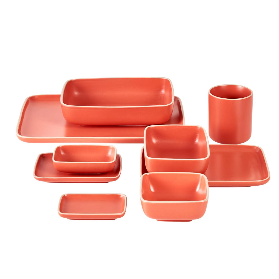 ELEMENTS Assiette orange Larg. 15 x Long. 21 cm_elements-assiette-orange-larg--15-x-long--21-cm
