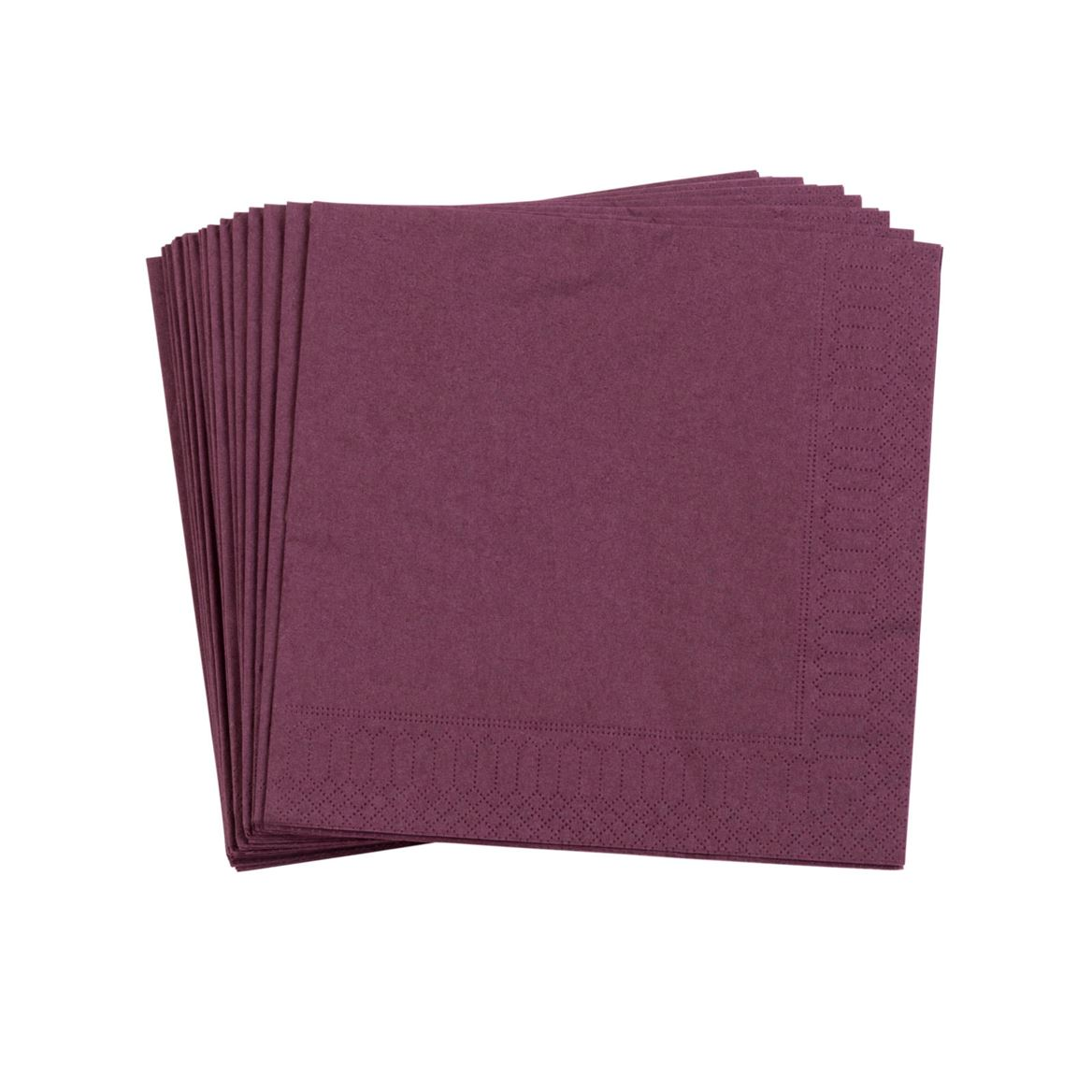UNI Set de 20 serviettes rouge Larg. 33 x Long. 33 cm_uni-set-de-20-serviettes-rouge-larg--33-x-long--33-cm