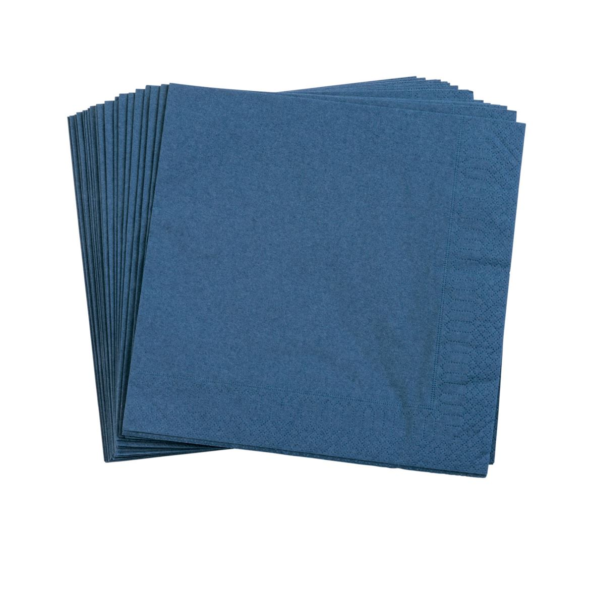 UNI Set de 20 serviettes bleu Larg. 40 x Long. 40 cm_uni-set-de-20-serviettes-bleu-larg--40-x-long--40-cm