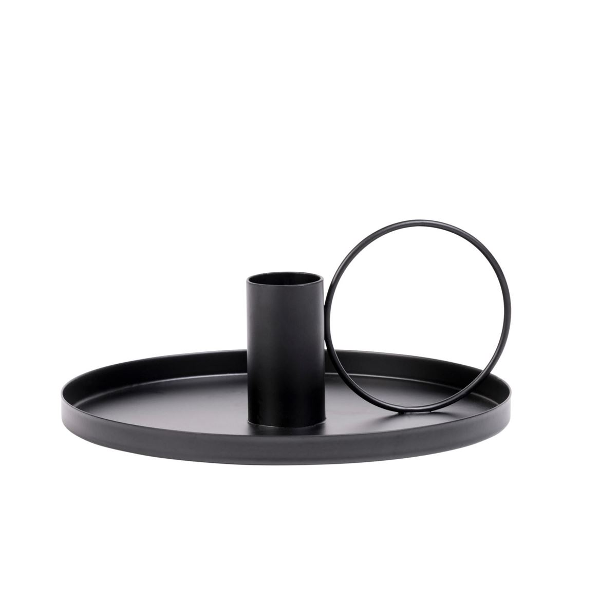 CIRCLE Bougeoir noir H 8 cm; Ø 19 cm_circle-bougeoir-noir-h-8-cm;-ø-19-cm