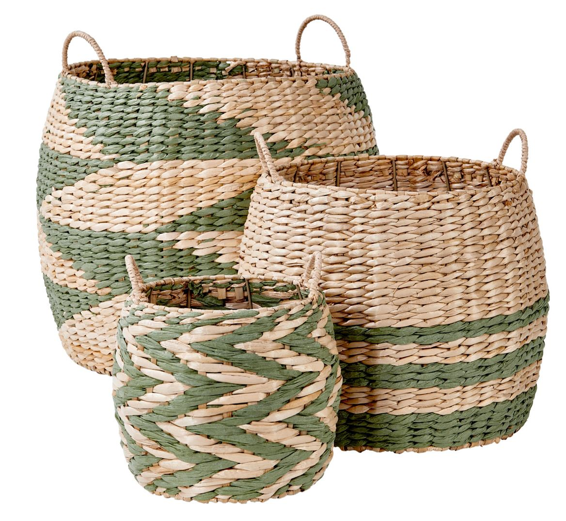 INDIAN GREEN Panier vert, naturel H 39 cm; Ø 46 cm_indian-green-panier-vert,-naturel-h-39-cm;-ø-46-cm